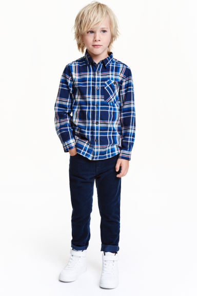 Corduroy trousers - Dark blue - Kids | H&M CN 1