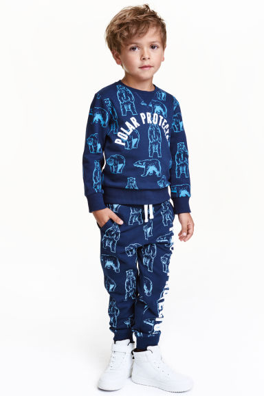 Joggers - Dark blue/WWF - Kids | H&M CN 1