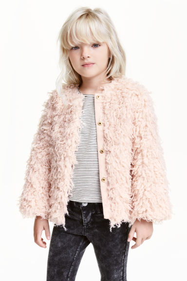 Faux fur jacket - Powder pink - Kids | H&M CN 1