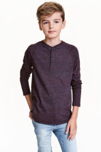 Long-sleeved T-shirt - Dark purple marl - Kids | H&M CN 1