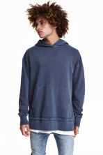Hooded top - Navy blue - Men | H&M 1