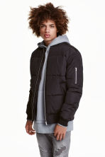 Quilted bomber jacket - Black - Men | H&M 1