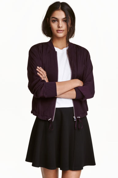 Bomber jacket - Dark purple -  | H&M CN 1