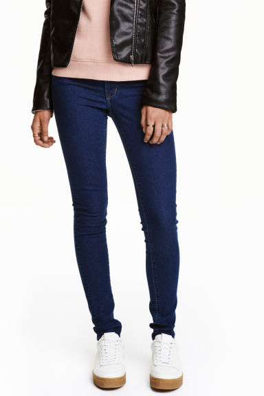 Super Skinny Regular Jeans - 深牛仔蓝 - 女士 | H&M CN 1