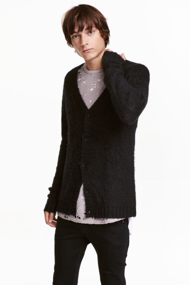 Cardigan con scollo a V - Nero - UOMO | H&M IT 1