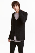 V-neck cardigan - Black - Men | H&M CN 1