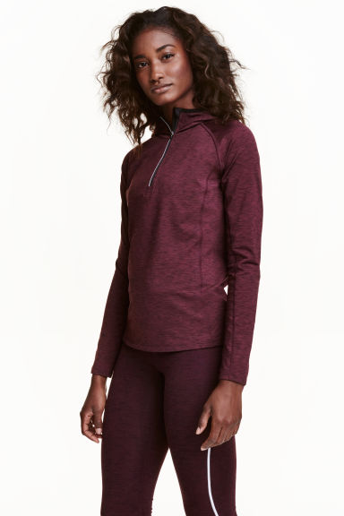 Running top - Burgundy marl - Ladies | H&M CN