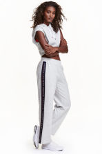 Sports trousers - Light grey marl - Ladies | H&M CN 1