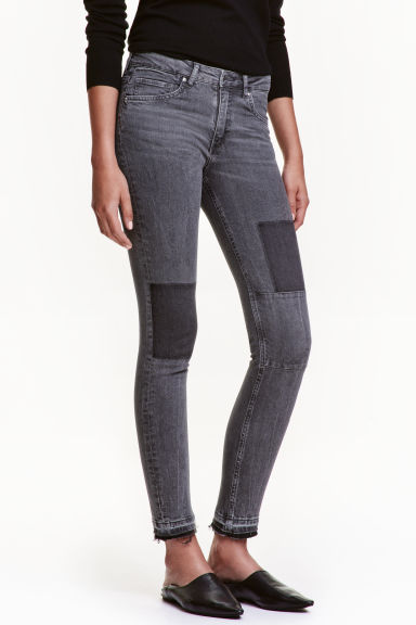 Slim Patchwork Jeans - 灰色 - Ladies | H&M CN 1