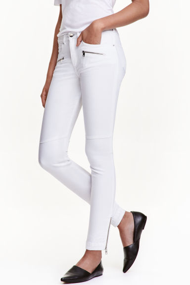 Skinny Low Ankle Jeans - 白色 - 女士 | H&M CN 1