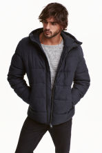 Padded jacket - Dark blue - Men | H&M CN 1