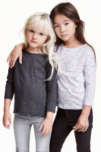 2-pack long-sleeved tops - Light grey/Spotted - Kids | H&M CN 1