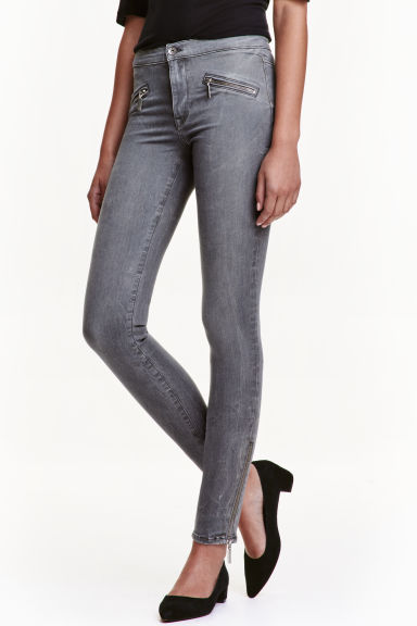 Shaping Skinny Ankle Jeans - Grey denim - Ladies | H&M CN 1