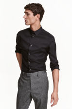 Stretch shirt Skinny fit - Black - Men | H&M CN 1