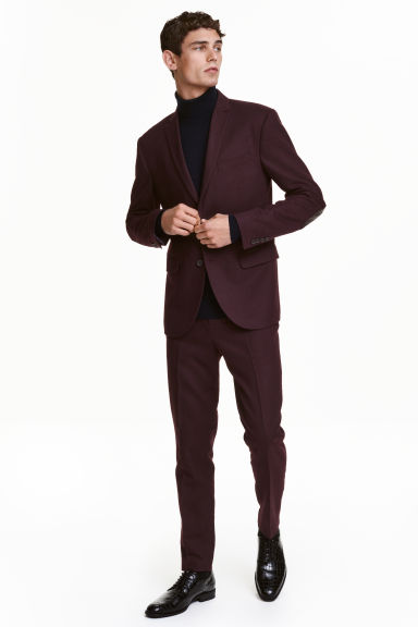 Geklede broek - Slim fit - Donkerpaars - HEREN | H&M BE 1