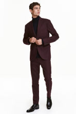 Suit trousers Slim fit - Dark plum - Men | H&M CN 1