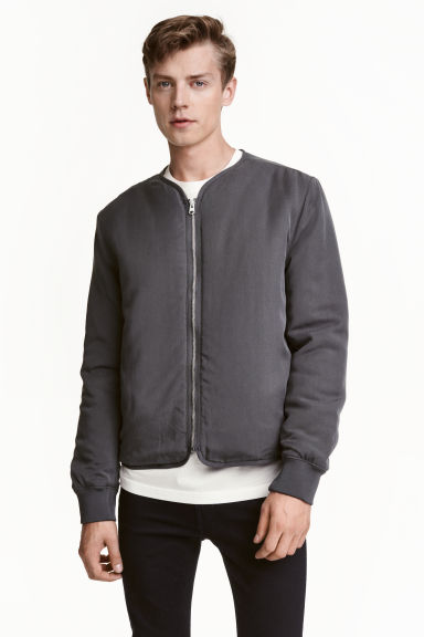 Lyocell jacket - Dark grey - Men | H&M CA 1