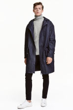 Denim parka with lining jacket - Dark denim blue - Men | H&M CN 1