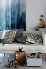 Patterned cushion cover - Natural white/Moss green - Home All | H&M CA 1
