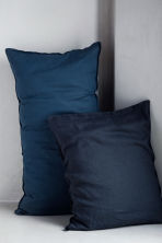 Washed linen pillowcase - Anthracite grey - Home All | H&M CN 1