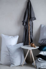 Washed linen pillowcase - Light grey - Home All | H&M IE 2