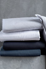 Washed cotton duvet cover set - Light grey - Home All | H&M GB 4