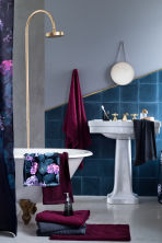 Telo bagno con motivi jacquard - Bordeaux - HOME | H&M IT 2