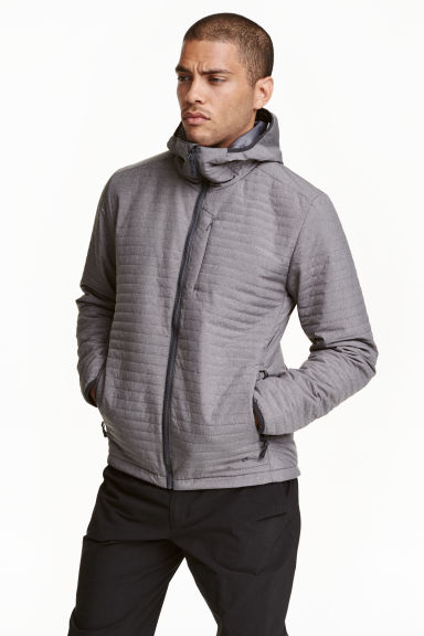 Quilted outdoor jacket - Grey - Men | H&M CN 1