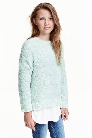 Knitted jumper - Mint green -  | H&M CN 1