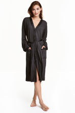 Jersey dressing gown - Dark grey - Ladies | H&M CN 1
