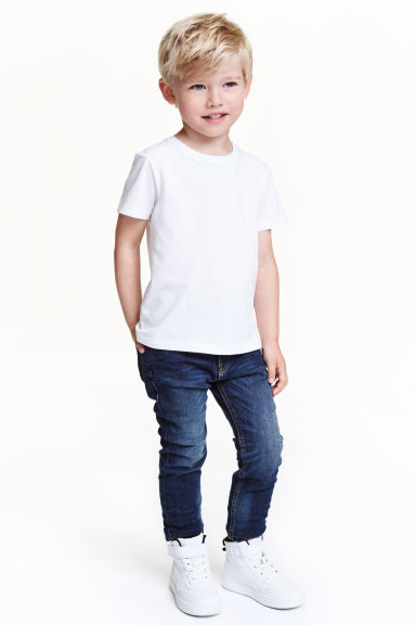 Tapered Lined Jeans - Dark denim blue - Kids | H&M CN 1