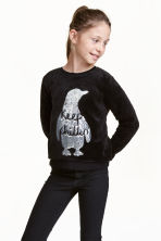 Sweatshirt - Black - Kids | H&M CN 1