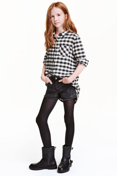 Long shirt - White/Checked - Kids | H&M CN 1