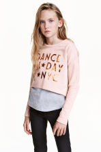 Sweatshirt with vest top - Powder pink - Kids | H&M CN 1