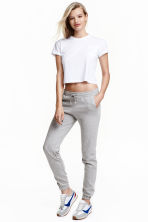 Pantalon molleton Skinny fit - Gris chiné -  | H&M FR 2