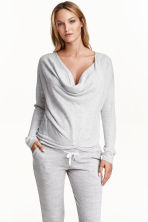 MAMA Wrapover jumper - Light grey marl - Ladies | H&M CN 1
