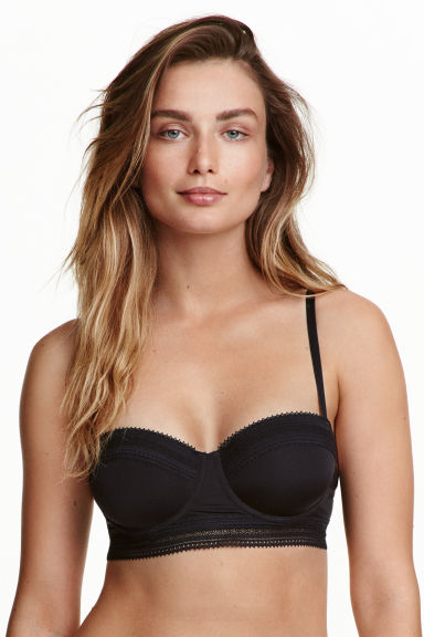 Microfibre balconette bra - Black - Ladies | H&M CN 1