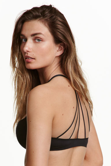 Push-up bra with back detail - Black - Ladies | H&M CN 1