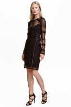 Beaded dress - Black - Ladies | H&M CA 1