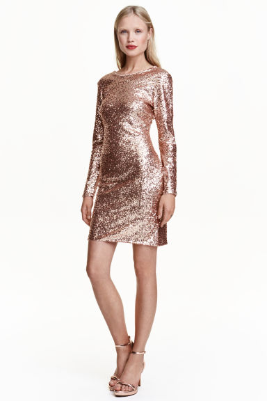 Sequined dress - Gold - Ladies | H&M CN 1
