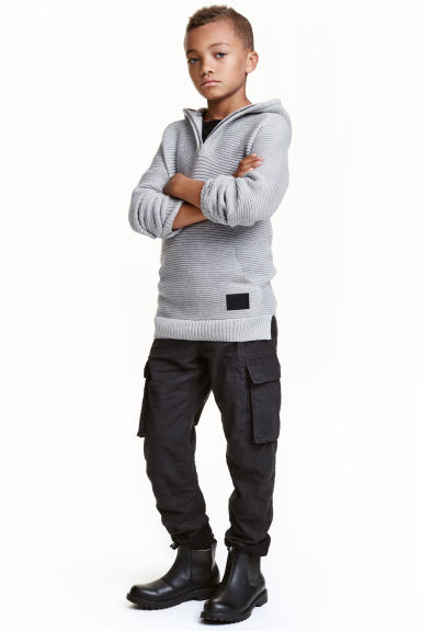 Lined cargo pants - Black - Kids | H&M CN 1