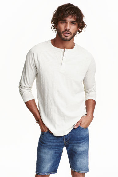 Henley shirt - Light grey - Men | H&M CN 1