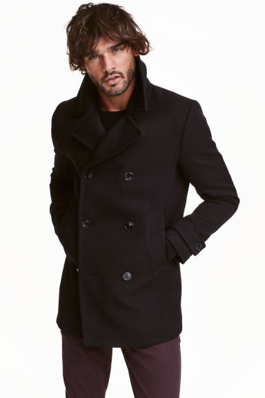 Pea coat - Black - Men | H&M GB
