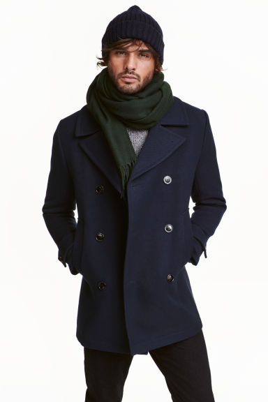 Pea coat - Dark blue - Men | H&M CN 1