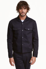 Cotton twill shirt jacket - Dark blue - Men | H&M CN 1