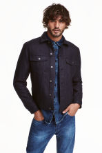 Giacca in misto lana - Blu denim scuro - UOMO | H&M IT 1