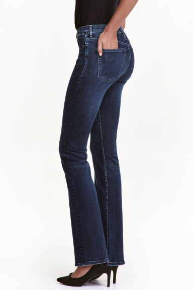 Shaping Boot cut Regular Jeans - Dark denim blue - Ladies | H&M CN 1