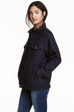 Wool-blend jacket - Dark blue - Ladies | H&M CN 1