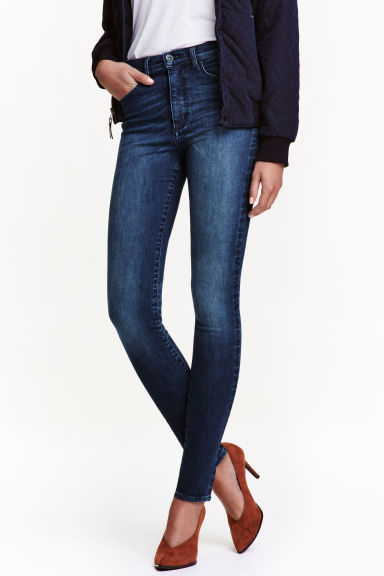 Shaping Skinny High Jeans - 牛仔蓝 - 女士 | H&M CN 1
