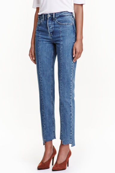 Straight High Ankle Jeans - 牛仔蓝 - Ladies | H&M CN 1